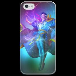 """Чехол для iPhone 5 глянцевый, с полной запечаткой """"Доктор Стрэндж"""" - comics, комиксы, марвел, doctor strange"""
