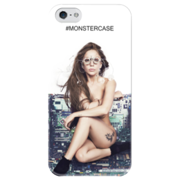 "Чехол для iPhone 5 глянцевый, с полной запечаткой ""Lady Gaga ARTPOP"" - gaga, lady gaga, гага, artpop, артпоп"