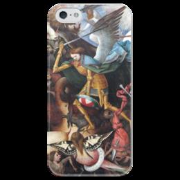 """Чехол для iPhone 5 глянцевый, с полной запечаткой """"Архангел Михаил"""" - картина, брейгель"""