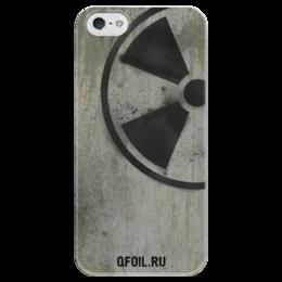"""Чехол для iPhone 5 глянцевый, с полной запечаткой """"Логотип-трафарет"""" - сталкер, тёмная душа"""