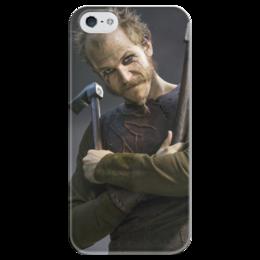 """Чехол для iPhone 5 глянцевый, с полной запечаткой """"Флоки Кораблестроитель"""" - герои, история, викинги, путь воина, флоки"""