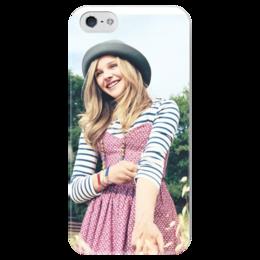 """Чехол для iPhone 5 глянцевый, с полной запечаткой """"Хлоя Морец"""" - film, актриса, actress, chloe moretz"""