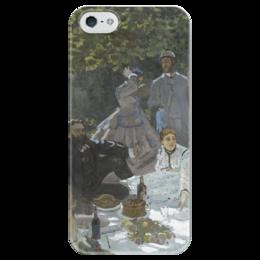 "Чехол для iPhone 5 глянцевый, с полной запечаткой ""Завтрак на траве (Клод Моне) 1866"" - картина, моне"