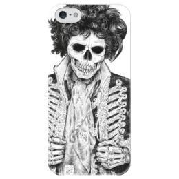 "Чехол для iPhone 5 глянцевый, с полной запечаткой ""скелет гусара"" - skull, череп, готика, арт, skeleton, скелет"