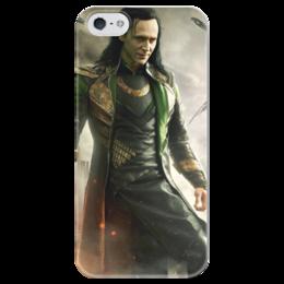"""Чехол для iPhone 5 глянцевый, с полной запечаткой """"iLoki"""" - marvel, loki, локи"""