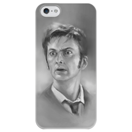 "Чехол для iPhone 5 глянцевый, с полной запечаткой ""Доктор Кто"" - doctor who, tardis, david tennant, доктор кто, 10 доктор"