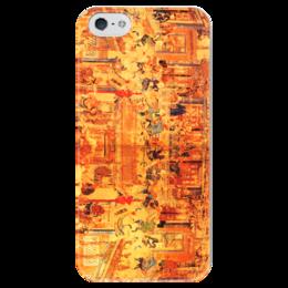 """Чехол для iPhone 5 глянцевый, с полной запечаткой """"Шаолинь"""" - единоборства, кунг фу, ушу, китайские, восточные"""