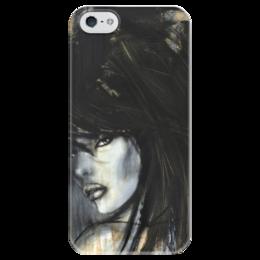 """Чехол для iPhone 5 глянцевый, с полной запечаткой """"Mimi Yoon Art #6"""" - девушки, красивый арт, mimi-yoon"""