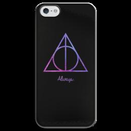 """Чехол для iPhone 5 глянцевый, с полной запечаткой """"Deathly Hallows"""" - harry potter, гарри поттер, хогвартс, hogwarts, griffindor"""