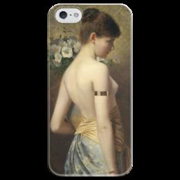 """Чехол для iPhone 5 глянцевый, с полной запечаткой """"Flora (флора)"""" - картина, нонненбрух"""