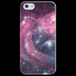 """Чехол для iPhone 5 глянцевый, с полной запечаткой """"космос , вселенная , space"""" - космос, вселенная, space"""
