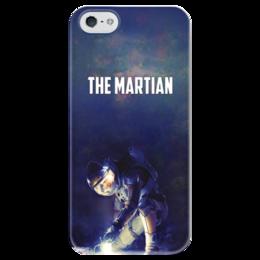 """Чехол для iPhone 5 глянцевый, с полной запечаткой """"Марсианин"""" - космос, марсианин, martian"""