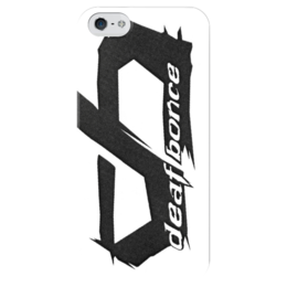 """Чехол для iPhone 5 глянцевый, с полной запечаткой """"Deaf bouns"""" - живите громко"""