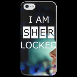 "Чехол для iPhone 5 глянцевый, с полной запечаткой ""Sherlock"" - sherlock, шерлок, sherlock holmes, шерлок холмс, sherlock holmes bbc"