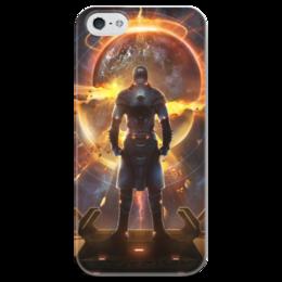 """Чехол для iPhone 5 глянцевый, с полной запечаткой """"Starpoint Gemini Warlords"""" - starpoint gemini warlords, планета, космос, взрыв, игра"""