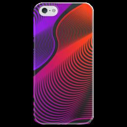 """Чехол для iPhone 5 глянцевый, с полной запечаткой """"Абстракция"""" - узор, стиль, рисунок, абстракция, абстрактный"""