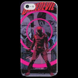 """Чехол для iPhone 5 глянцевый, с полной запечаткой """"Сорвиголова (Daredevil)"""" - комиксы, марвел, дардевил, daredevil, сорвиголова"""
