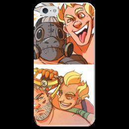 """Чехол для iPhone 5 глянцевый, с полной запечаткой """"Overwatch"""" - близзард, овервотч, турбосвин, крысавчик"""