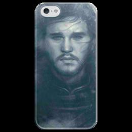 """Чехол для iPhone 5 глянцевый, с полной запечаткой """"Game of Thrones"""" - game of thrones, jon snow, джон сноу"""