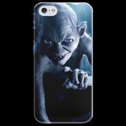 """Чехол для iPhone 5 глянцевый, с полной запечаткой """"Голлум"""" - кино, властелин колец, хоббит, прелесть, фродо"""