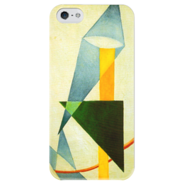 """Чехол для iPhone 5 глянцевый, с полной запечаткой """"Беспредметная композиция"""" - картина, розанова"""