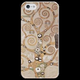"""Чехол для iPhone 5 глянцевый, с полной запечаткой """"Древо жизни"""" - картина, климт"""