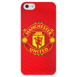 "Чехол для iPhone 5 глянцевый, с полной запечаткой ""Манчестер Юнайтед"" - манчестер юнайтед, manchester united"