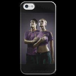 """Чехол для iPhone 5 глянцевый, с полной запечаткой """"Гимн Физкультурников"""" - юмор, приколы, гимн, физкультурники"""
