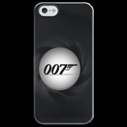"""Чехол для iPhone 5 глянцевый, с полной запечаткой """"007    """" - 007, кино, bond, james bond, бонд, джеймс бонд"""
