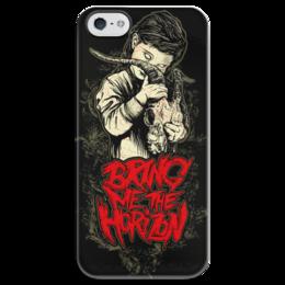 """Чехол для iPhone 5 глянцевый, с полной запечаткой """"Bring me the horizon"""" - рок, bring me the horizon, музыка, горизонт"""