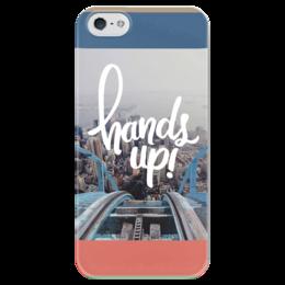 """Чехол для iPhone 5 глянцевый, с полной запечаткой """"Hands Up """" - фото, hands up, руки вверх, горки"""