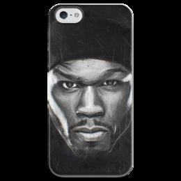 """Чехол для iPhone 5 глянцевый, с полной запечаткой """" The Kanan Tape - 50 cent iPhone 5 """" - 50cent"""