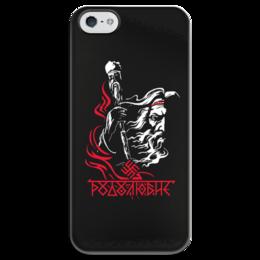 """Чехол для iPhone 5 глянцевый, с полной запечаткой """"Родолюбие"""" - предки, русь, славяне, путь воина, род"""