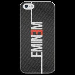 """Чехол для iPhone 5 глянцевый, с полной запечаткой """"Эминем (Eminem)"""" - eminem, эминем, slim shady"""