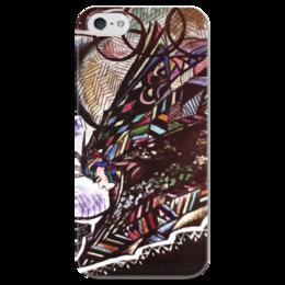 """Чехол для iPhone 5 глянцевый, с полной запечаткой """"parallel world"""" - арт, космос, люди, parallel world, space, humanity"""