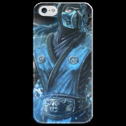 """Чехол для iPhone 5 глянцевый, с полной запечаткой """"Mortal Combat"""" - игры, геймер, про игры"""