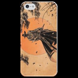 """Чехол для iPhone 5 глянцевый, с полной запечаткой """"Самурай"""" - аниме, самурай, япония, меч, samurai"""