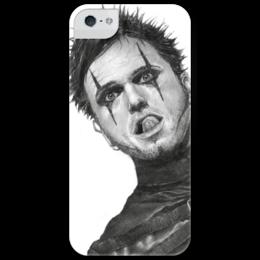 """Чехол для iPhone 5 глянцевый, с полной запечаткой """"Dero Goi"""" - музыка, арт, рисунок, графика, оригинально, кумиры, oomph, деро гой"""