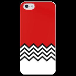 """Чехол для iPhone 5 глянцевый, с полной запечаткой """"Твин Пикс"""" - twin peaks, твин пикс, дэвид линч, агент купер, black lodge coffee"""