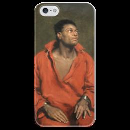 """Чехол для iPhone 5 глянцевый, с полной запечаткой """"Пленный раб"""" - симпсон, картина"""