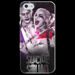 """Чехол для iPhone 5 глянцевый, с полной запечаткой """"Отряд самоубийц"""" - джокер, harley quinn, джаред лето, suicide squad, марго робби"""