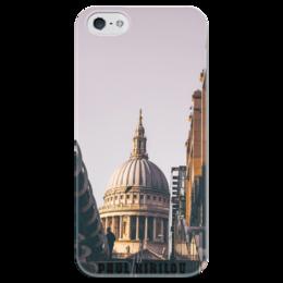 """Чехол для iPhone 5 глянцевый, с полной запечаткой """"St. Paul Cathedral """" - london, street, cathedr"""