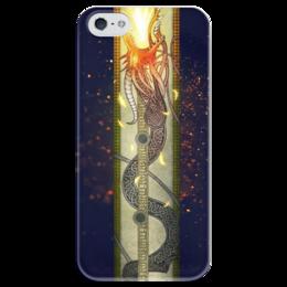 "Чехол для iPhone 5 глянцевый, с полной запечаткой ""Dragon Lore"" - арт, games, dragon, cs go, skins"
