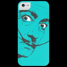 """Чехол для iPhone 5 глянцевый, с полной запечаткой """"Сальвадор Дали"""" - арт, юмор, стиль, сальвадор дали, salvador dali, surrealism"""