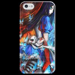 "Чехол для iPhone 5 глянцевый, с полной запечаткой ""Alice"" - арт, игра, game, алиса, аниме, madness, alice, returns, wonderland, american mcgee"