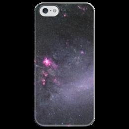"""Чехол для iPhone 5 глянцевый, с полной запечаткой """"Вселенная"""" - наука, космос, вселенная, звезды, галактика"""