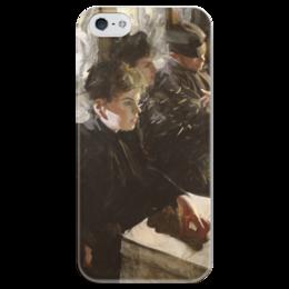 """Чехол для iPhone 5 глянцевый, с полной запечаткой """"Omnibus"""" - картина, цорн"""