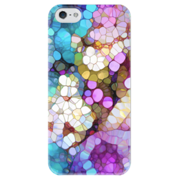 """Чехол для iPhone 5 глянцевый, с полной запечаткой """"Счастливые Цвета"""" - цветы, узоры, природа, flowers"""