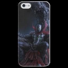 "Чехол для iPhone 5 глянцевый, с полной запечаткой ""Спаун (Spawn)"" - comics, комиксы, спаун, spawn"