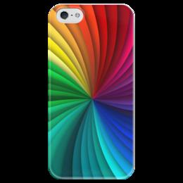"""Чехол для iPhone 5 глянцевый, с полной запечаткой """"Калейдоскоп"""" - узор, рисунок, абстракция, стильный, калейдоскоп"""